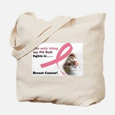 Breast Cancer Pit Bull Tote Bag