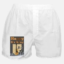 Musical Guitar Happy Birthday Boxer Shorts