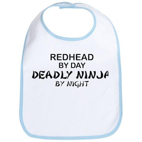 Redhead Deadly Ninja Bib