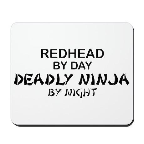 Redhead Deadly Ninja Mousepad