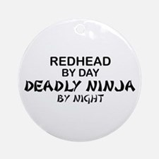 Redhead Deadly Ninja Ornament (Round)