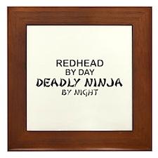 Redhead Deadly Ninja Framed Tile