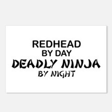 Redhead Deadly Ninja Postcards (Package of 8)