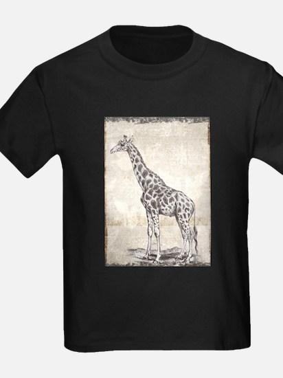 Vintage Giraffe Drawing T-Shirt