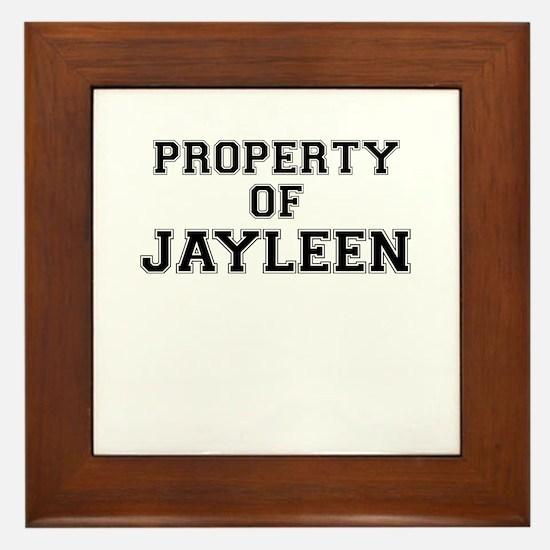 Property of JAYLEEN Framed Tile
