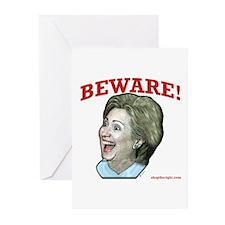 Beware of Hillary Greeting Cards (Pk of 10)