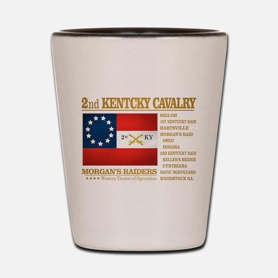 2nd Kentucky Cavalry Shot Glass