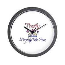 Timothy - Mommy's Little Prin Wall Clock