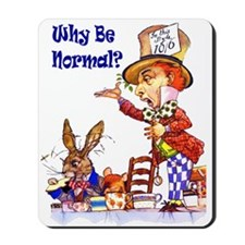 MAD HATTER - BLUE Mousepad