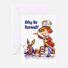 MAD HATTER - BLUE Greeting Card