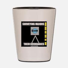 Surveying Majors Know Their Boundaries Shot Glass