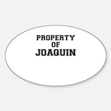Property of JOAQUIN Decal
