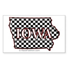 Iowa State Map Rectangle Decal