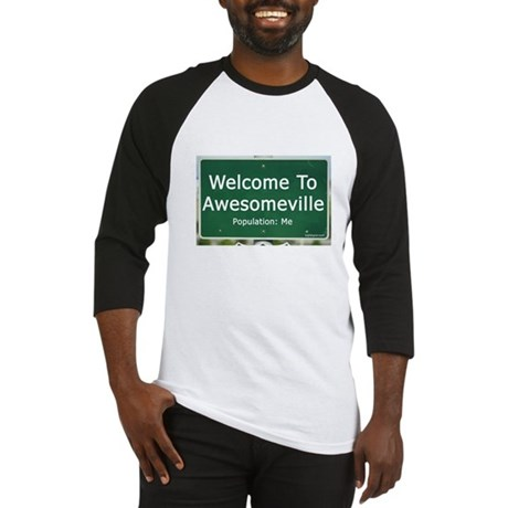 Welcome To Awesomeville Popul Baseball Jersey