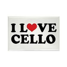 I Love Cello Rectangle Magnet