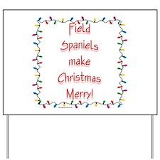 Field Spaniel Merry Yard Sign