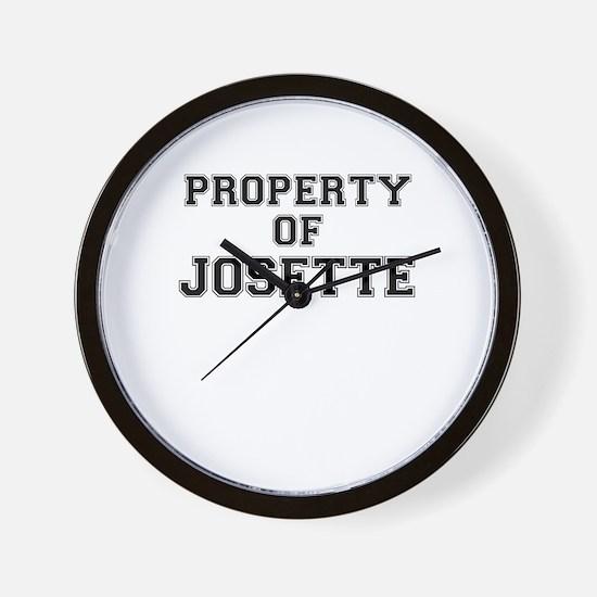 Property of JOSETTE Wall Clock