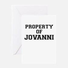 Property of JOVANNI Greeting Cards
