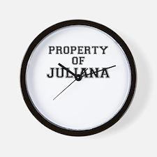 Property of JULIANA Wall Clock