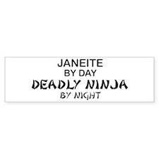 Janeite Deadly Ninja Bumper Bumper Sticker