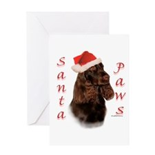 Field Spaniel Paws Greeting Card