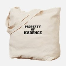Property of KADENCE Tote Bag