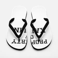 Property of KAITLIN Flip Flops