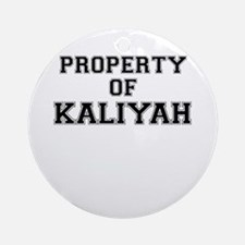 Property of KALIYAH Round Ornament