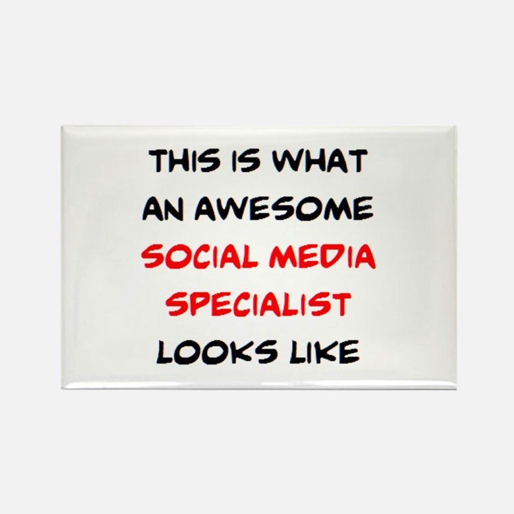 awesome social media specialist Rectangle Magnet