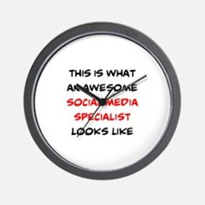 awesome social media specialist Wall Clock