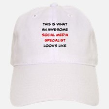 awesome social media specialist Baseball Baseball Cap