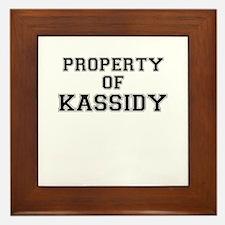 Property of KASSIDY Framed Tile