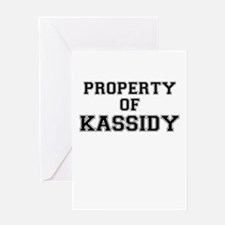 Property of KASSIDY Greeting Cards