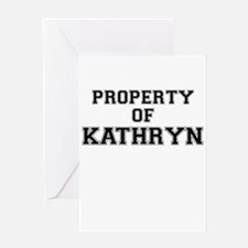 Property of KATHRYN Greeting Cards
