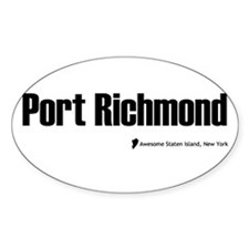 Port Richmond Oval Decal