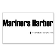 Mariners Harbor Rectangle Decal