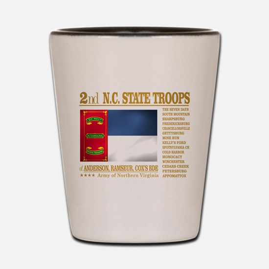 2nd NC State Troops Shot Glass