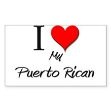 I Love My Puerto Rican Rectangle Decal