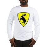 Long Sleeve T-Shirt, 10 inch moose FRONT only