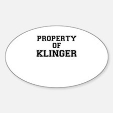 Property of KLINGER Decal