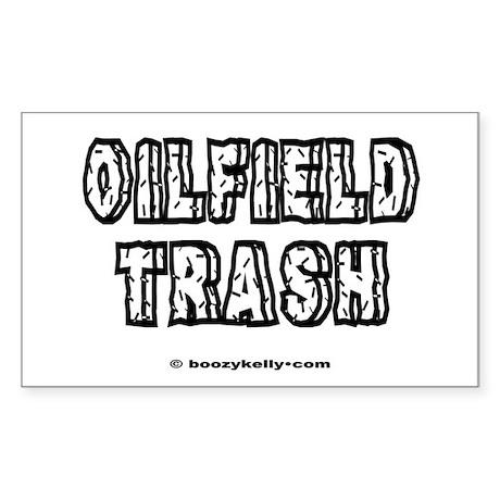 Oilfield Trash Rectangle Sticker