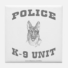 Police K9 Unit Tile Coaster