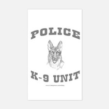 Police K9 Unit Rectangle Decal