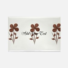 Cute Copper Look Flowers Magnets