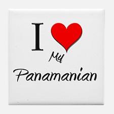 I Love My Panamanian Tile Coaster