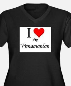I Love My Panamanian Women's Plus Size V-Neck Dark