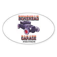 5 Window BoneHead Customz Oval Decal