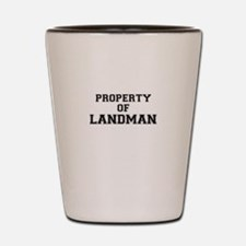 Property of LANDMAN Shot Glass
