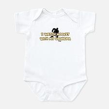 Boston Hockey Grandpa Infant Bodysuit