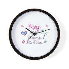 Kaitlyn - Mommy's Little Prin Wall Clock